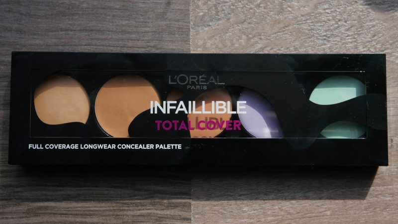 REVIEW – LOREAL INFALLIBLE TOTAL COVER CONCEALER PALETTE